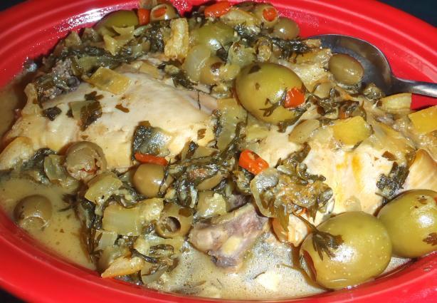 Chicken Tagine With Green Olives & Preserved Lemon