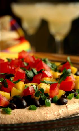 Sunny Caribbean Black Bean and Mango Dip