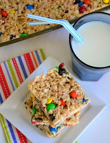 M&M Rice Krispies Treats