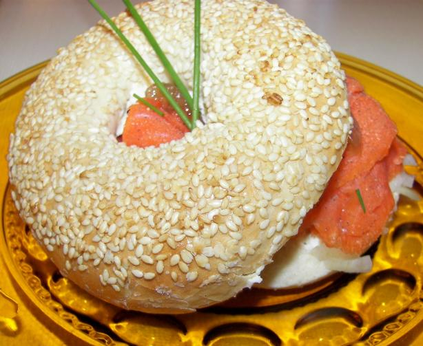 A Very Interesting Smoked Salmon Sandwich