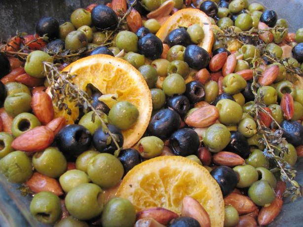 Slow-Roasted Spanish Olives With Oranges and Almonds