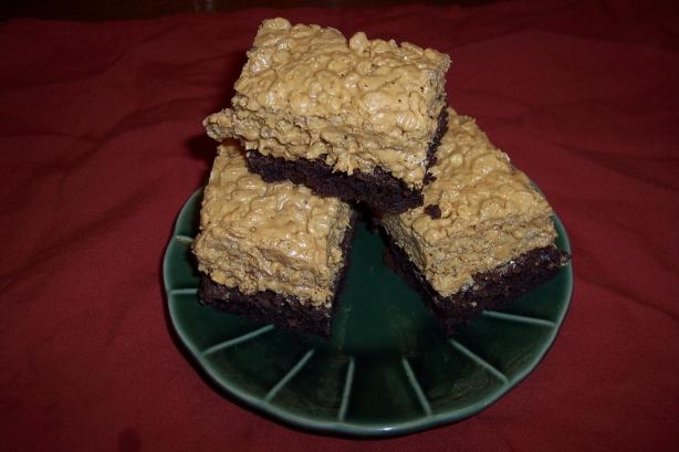 Peanut Butter Crispy Brownies