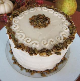 Vegan Pumpkin Spice Cake With Vanilla Maple Frosting and Spiced