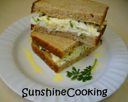 Solar Cooked Moroccan Egg Salad Sandwich Hold the Mayo