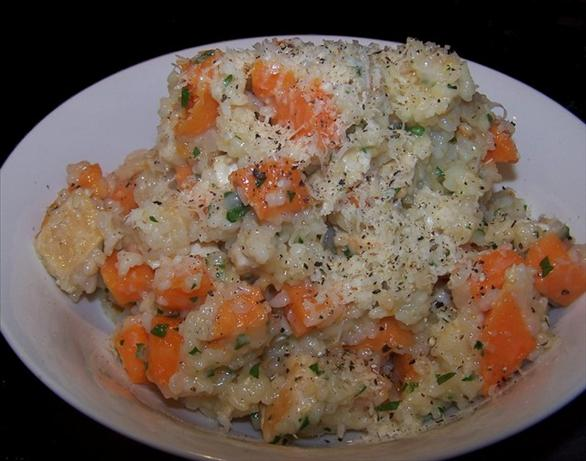 Oven Baked Sweet Potato & Chicken Risotto