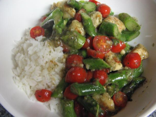 Chicken & Asparagus Sauté