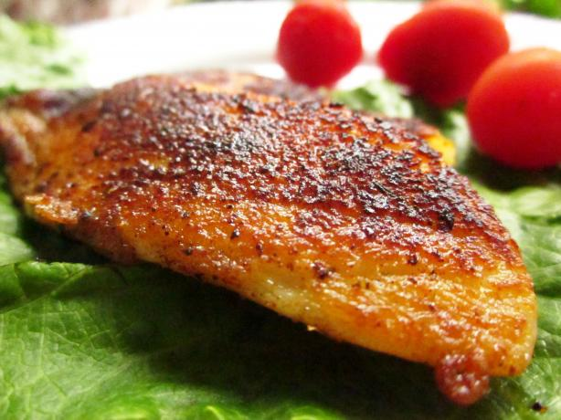 Pan Fried Blackened Fish