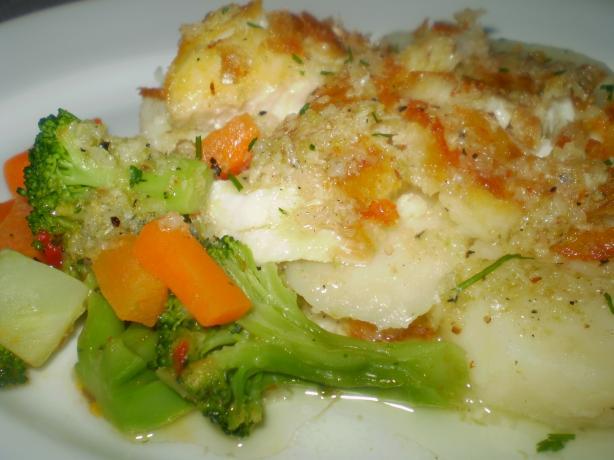 Pan-Fried Fish on Potato, Horseradish and Lime Salad