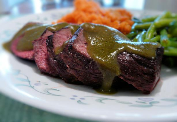 Sliced Steak and Roasted Poblano Gravy