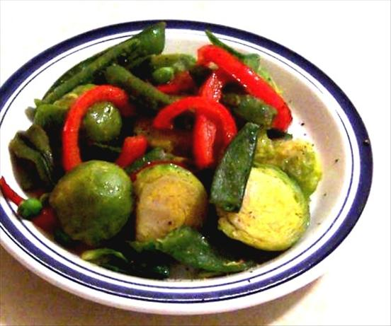 Sauteed Snap Peas & Brussels Sprouts