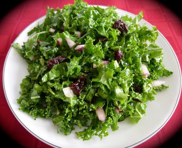 Raw Kale Salad With Lemon-Honey Vinaigrette
