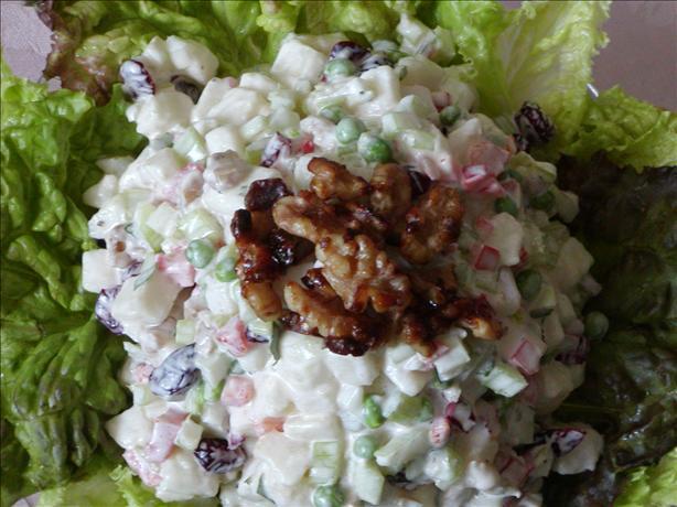 Pears, Celery, Peas, Dried Cranberries, & Walnut Salad