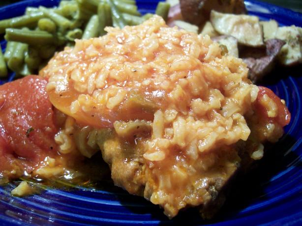 Pork Chops With Tomatoes and Rice