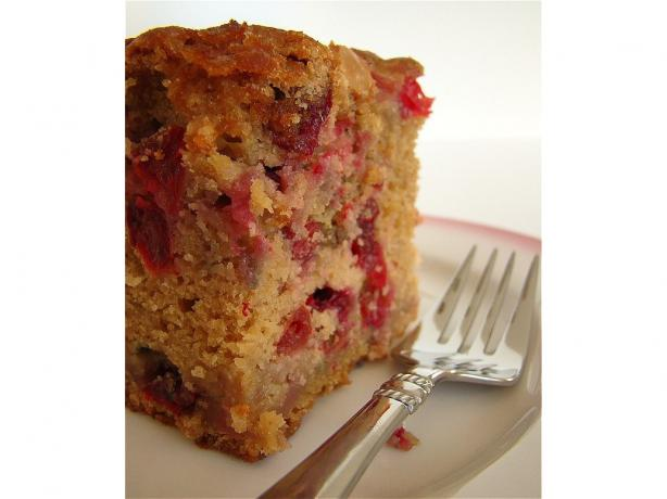 White Chocolate Fresh Cranberry Coffee Cake
