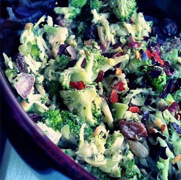 Tangy Broccoli Slaw Salad