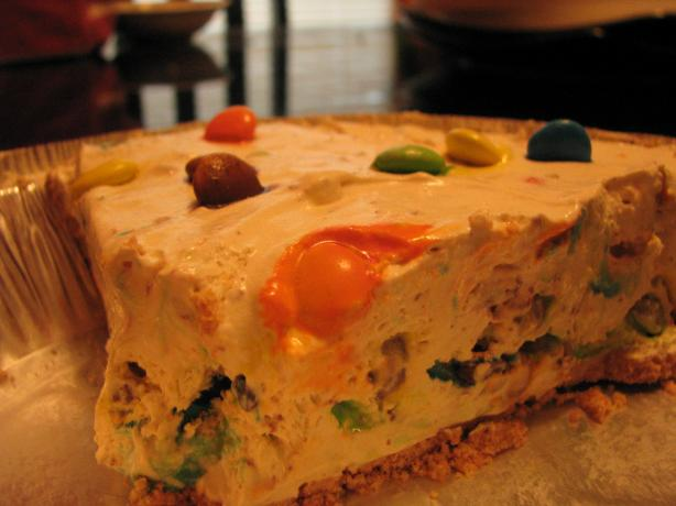 Frosty M&m Pie (Or Toffee Bits, Butterfingers, Etc.) No Bake