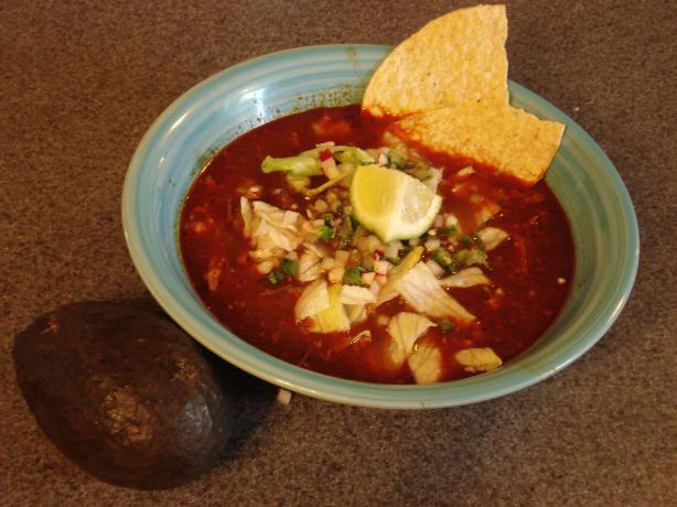 Pozole Rojo - Pork and Hominy Stew