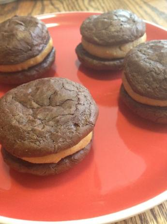 Flourless Chocolate Peanut Butter Sandwich Cookies