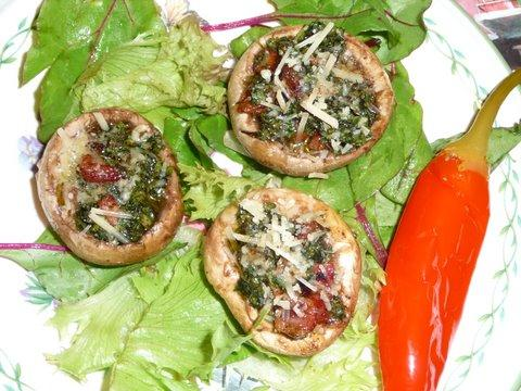 Mushroom Kilpatrick on Barbecue Crostini