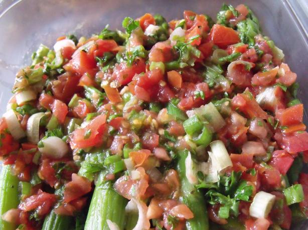 Asparagus With Tomato Vinaigrette