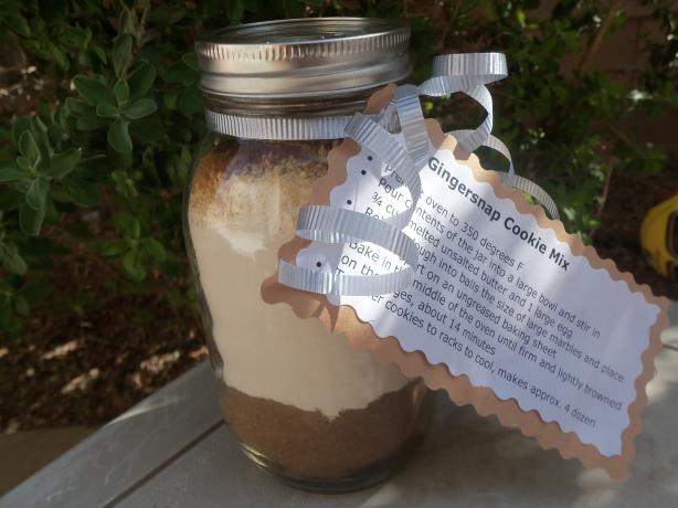 Gingersnap Mix in a Jar