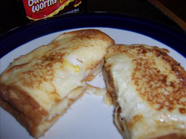 French-toasted Banana Sandwich