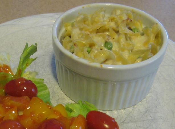 Reduced Fat Dijon Tuna Noodle Casserole
