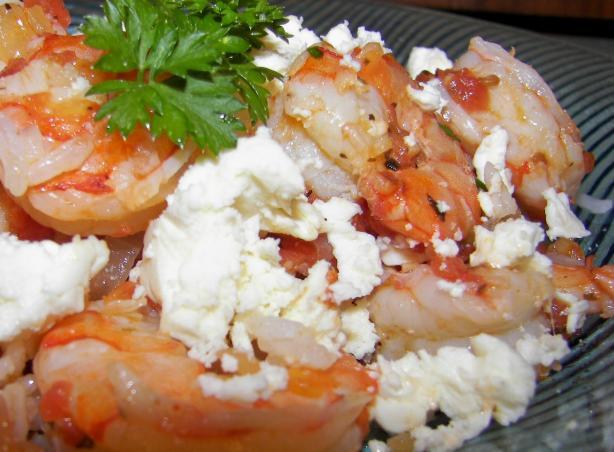 Tomato Shrimp With Feta Cheese