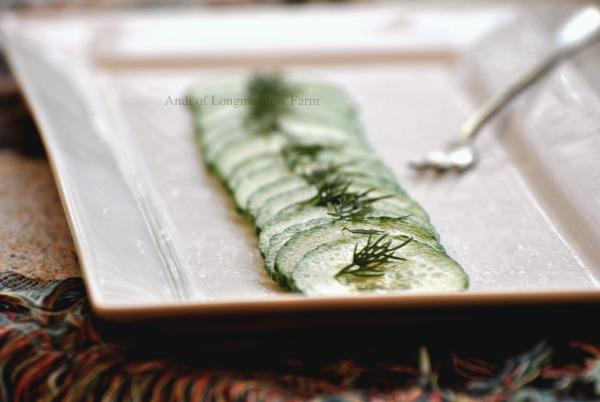 A Very Easy Cucumber and Fresh Dill Salad