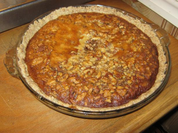 Pecan Walnut Honey Pie With Wheat Crust