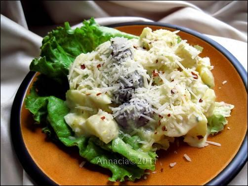 Potatoes in Spicy Cheese Sauce - Papa a La Huancaina