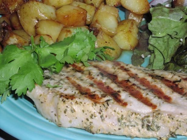 Mustard & Herb Grilled Pork Chops