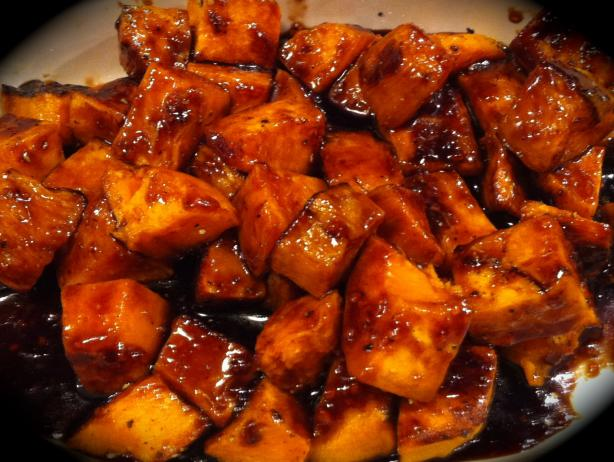Roasted Sweet Potatoes With Orange Marmalade and Balsamic Glaze