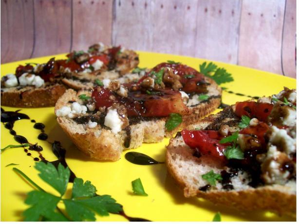 Grilled Tomato Crustini