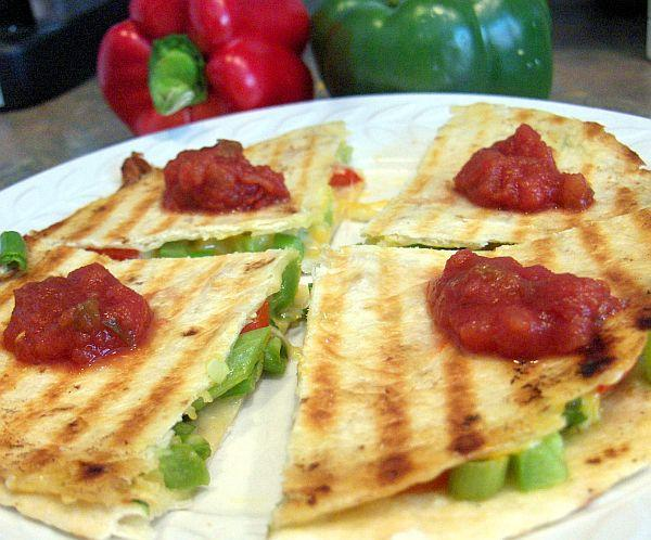 Grilled Pepper & Cheese Quesadilla