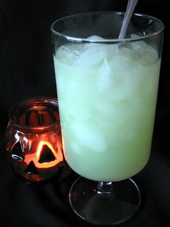 Ecto Lime Cooler (Halloween Cocktail)
