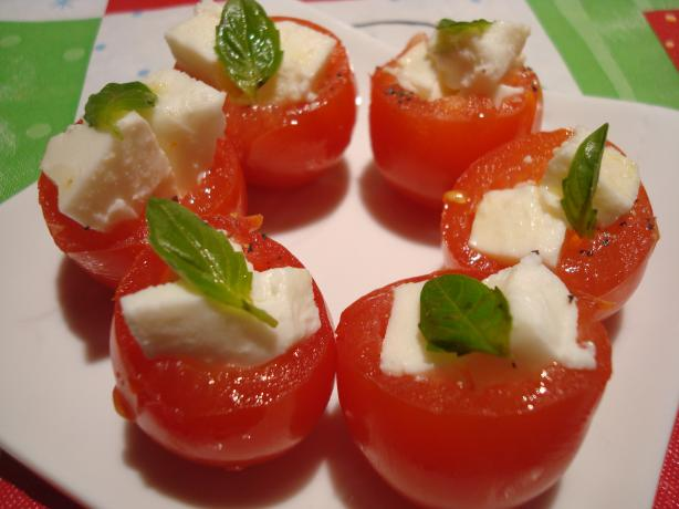 Easiest Stuffed Cherry Tomatoes Appetizer