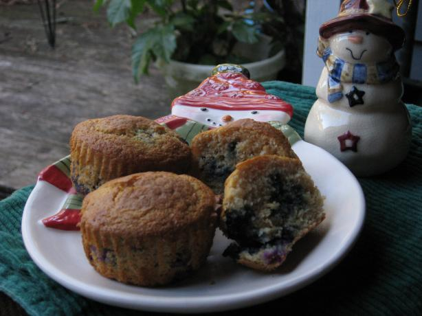 Raspberry or Blueberry Corn Muffins