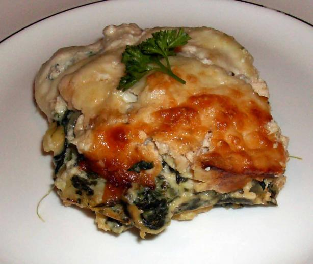 Crab and Spinach Lasagna