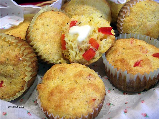 Corn Muffins with Sweet Red Peppers