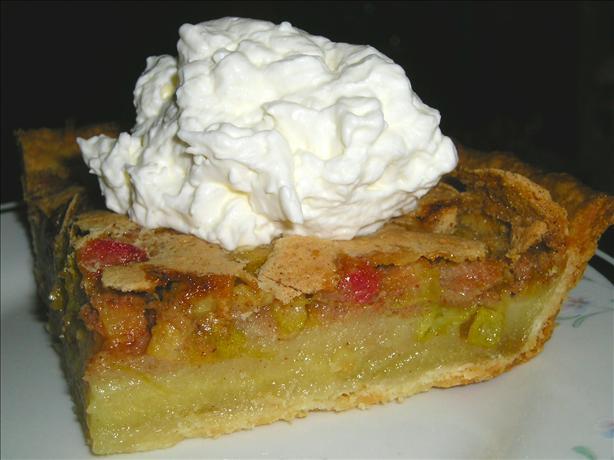 Rhubarb Cream Pie