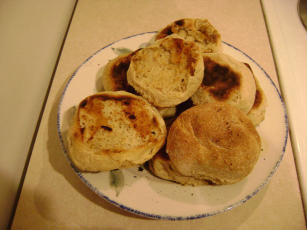 Honey Bran English Muffins (Bread Machine)
