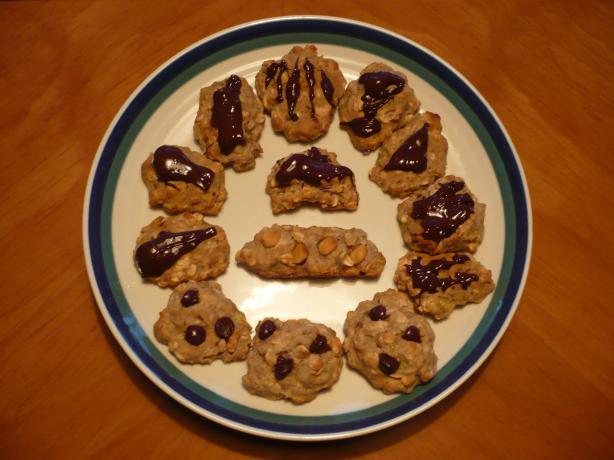 Gluten-Free Choco-Banana Oatmeal Cookies