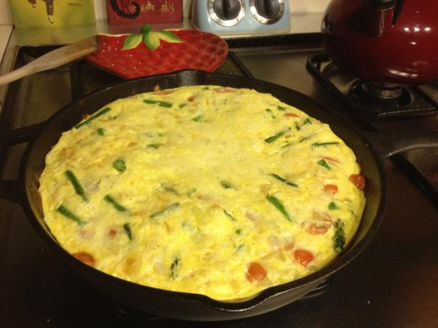 Low Fat Asparagus Frittata (With Egg Beaters)
