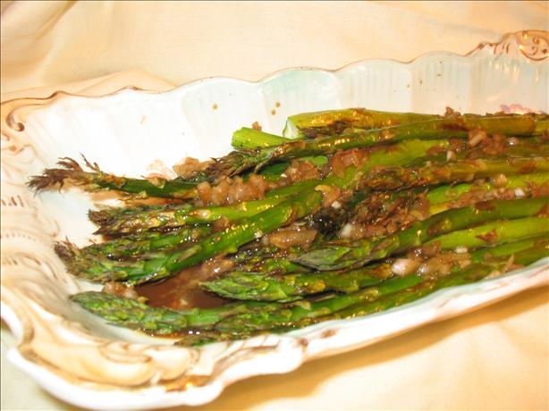 Roasted Asparagus with Balsamic-Shallot Butter