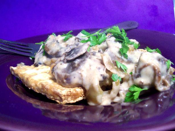 Baked Tofu With Mushroom Gravy