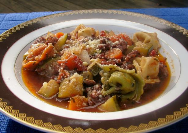 Warming Italian Sausage and Tortellini Soup
