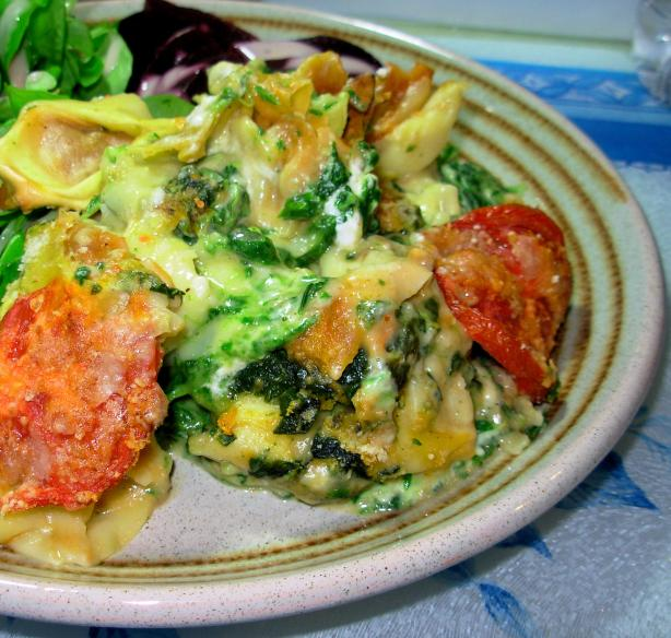 Spinach and Tortellini Casserole