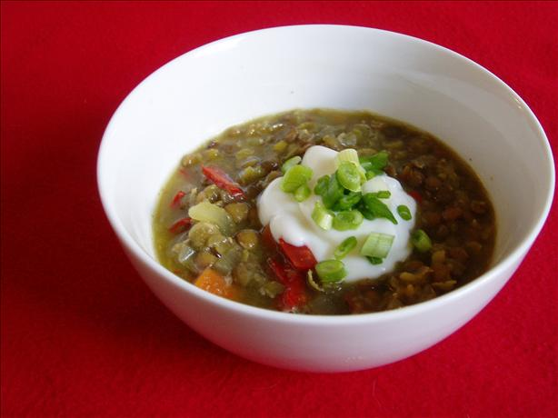 Oven Baked Split Pea and Lentil Soup