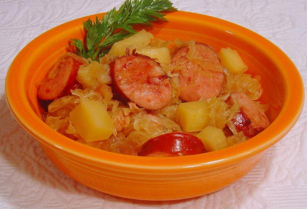 Jolean's Crock Pot Old World Sauerkraut Supper
